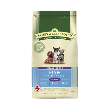 James Wellbeloved Senior Fish and Rice Small Breed Dog Food