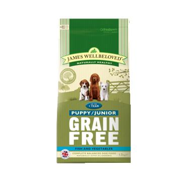 James Wellbeloved Puppy/Junior Grain Free Fish  Dog Food