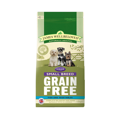 James Wellbeloved Senior Grain Free Fish Small Breed Dog Food