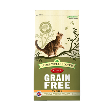 James Wellbeloved Adult Grain Free Turkey Dry Cat Food
