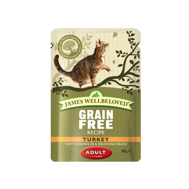 James Wellbeloved Adult Grain Free Turkey Wet Cat Food