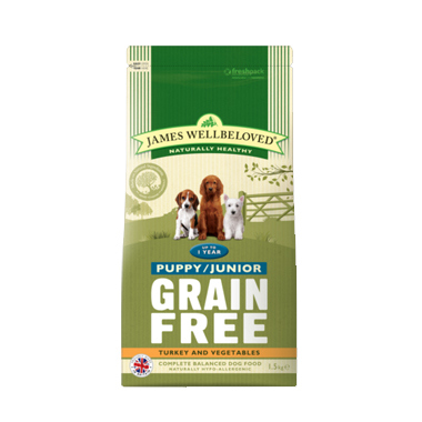 James Wellbeloved Puppy/Junior Grain Free Turkey Dog Food