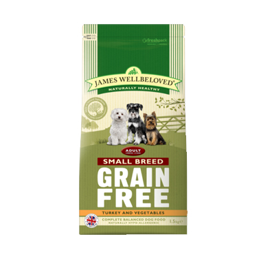 James Wellbeloved Adult Grain Free Turkey Small Breed Dog Food