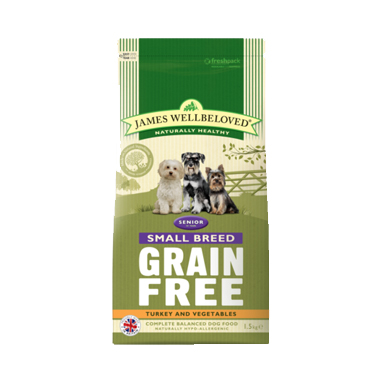 James Wellbeloved Senior Grain Free Turkey Small Breed Dog Food