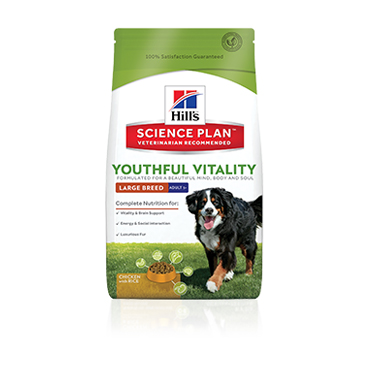 Hill's Science Plan Youthful Vitality Large Breed 5+ Chicken Dog Food
