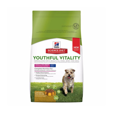 Hill's Science Plan Youthful Vitality Adult 7+ Small & Toy Breed Chicken Dog Food
