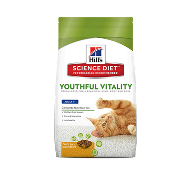 Hill's Science Plan Diet Adult 7+ Youthful Vitality Chicken Cat Food