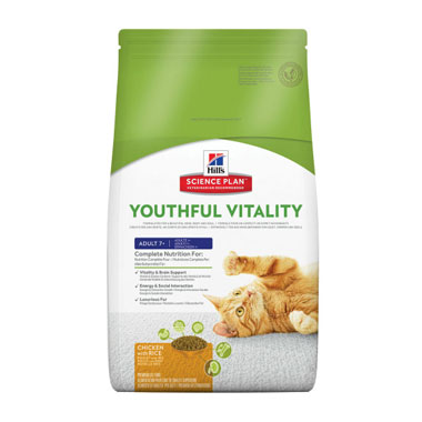 Hill's Science Plan Youthful Vitality Adult 7+ Chicken Cat Food