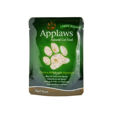 Applaws Chicken Breast & Asparagus in Broth Pouch Cat Food
