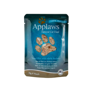 Applaws Tuna Fillet & Whole Anchovy in Broth Pouch Cat Food