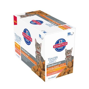 Hill's Science Plan Feline Sterilised Cat Young Adult Chicken Wet