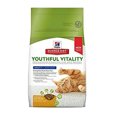 Hill's Science Plan Youthful Vitality Adult 7+ Chicken With Rice Cat Food