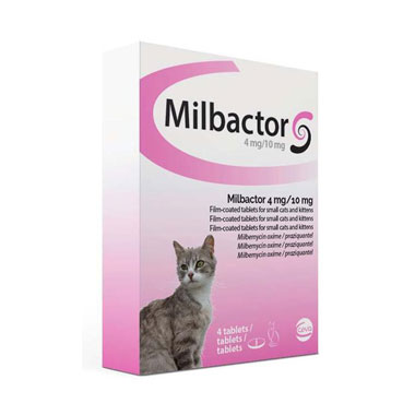 Milbactor 4mg/10mg Tablets for Small Cats and Kittens