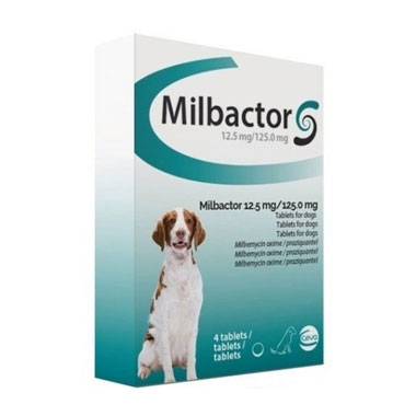 Milbactor 12.5mg/125mg Tablets for Dogs