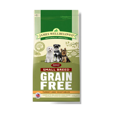 James Wellbeloved Adult Turkey Grain Free Small Breed Dog Food