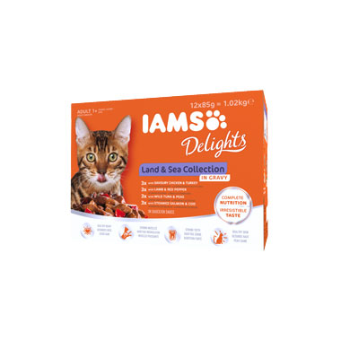 Iams Delights Land & Sea Selection In Gravy Cat Food