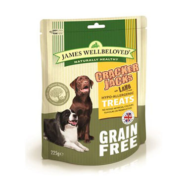 James Wellbeloved Crackerjacks Cereal Free Lamb Dog Treats