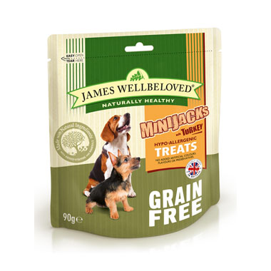 James Wellbeloved Crackerjacks Cereal Free Turkey Dog Treats