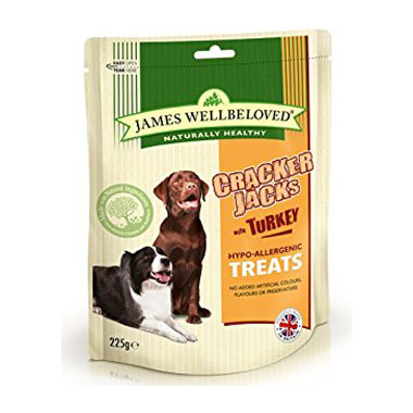 James Wellbeloved Crackerjacks Turkey Dog Treats