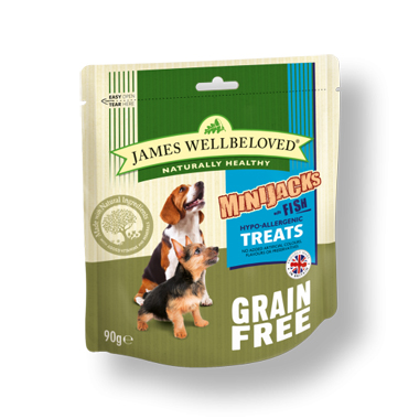 James Wellbeloved Minijacks Fish & Vegetable Dog Treats