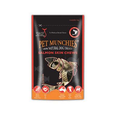Pet Munchies Salmon Skin Chews Dog Treats