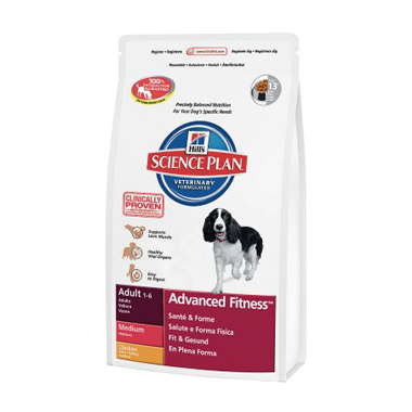 Hill's Science Plan Adult Medium Breed Advanced Fitness Chicken Dog Food
