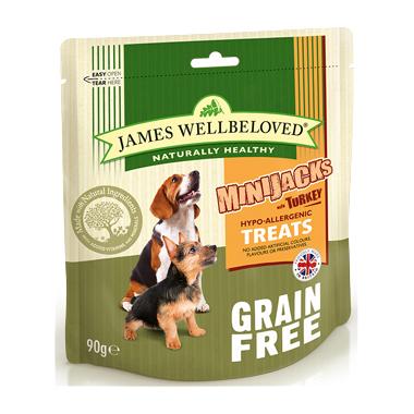James Wellbeloved Minijacks Cereal Free Turkey Dog Treats