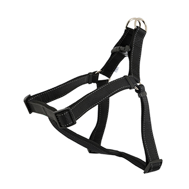 Ancol Padded No Pull Dog Harness - Black, Reflective
