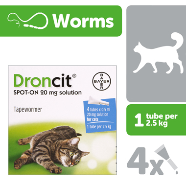 Droncit 0.5ml Tapeworm Cat Wormer
