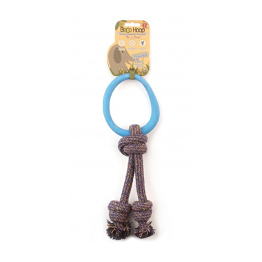 Beco Dog Toys Hoop on a Rope - Puppy Teething Toy