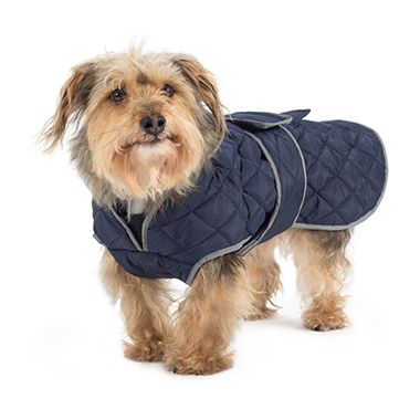 Ancol Muddy Paws Quilted Dog Coat Navy