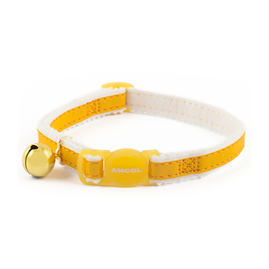 Ancol Yellow Reflective Cat Collars With Warning Bell
