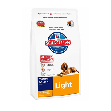 Hills Science Plan Canine Mature Adult 7+ Light Active Longevity With Chicken