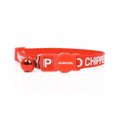 Ancol Red Cat Collar I Am Microchipped