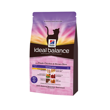 Hill's Ideal Balance Feline Mature Chicken & Brown Rice