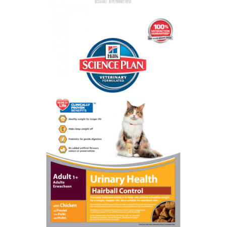 Hills Science Plan Feline Adult Urinary Care Hairball Control
