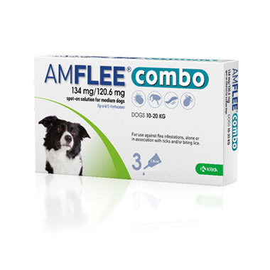 Amflee Combo 134mg/120.6mg For Medium Dogs
