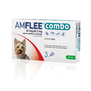 Amflee Combo 67mg/60.3mg For Small Dogs