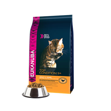 Eukanuba Adult Cat Food Top Condition Rich In Chicken 1+