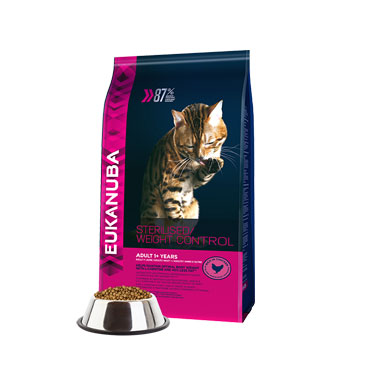 Eukanuba Adult Dry Cat Food For Sterilized Cats Weight Control Chicken