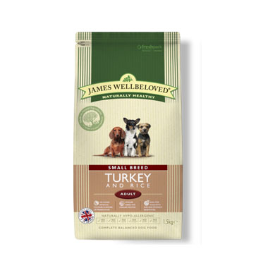 James Wellbeloved Adult Small Breed Turkey & Rice