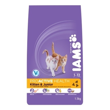 Iams Cat Kitten & Junior Rich in Chicken