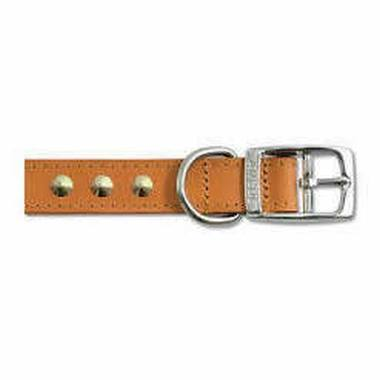 Ancol Collar Tan Leather Stitch