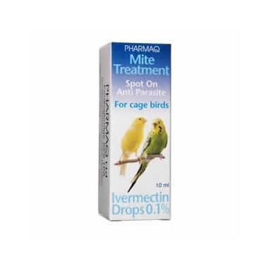 PHARMAQ Ivermectin Drops 0.1% Cage Birds