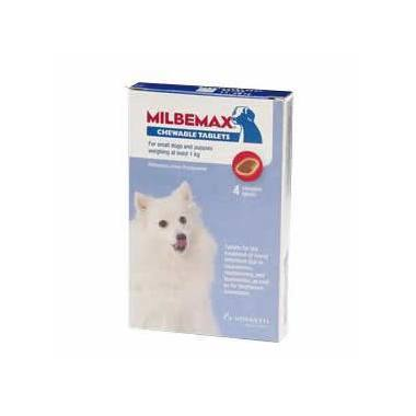 Milbemax Chewy Tabs for Dogs 25mg (Small Dog and Puppies)