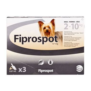 Fiprospot Spot On Small Dog (2-10kg)