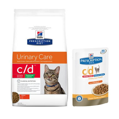 Hill's Prescription Diet C/D Feline Urinary Stress Reduced Calorie Chicken