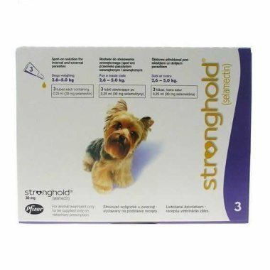 Stronghold Spot On Toy Dog 30mg (2.6-5kg)