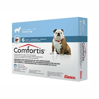 Comfortis Chewable Flea Tablets for Dogs 1040mg