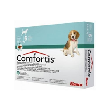 Comfortis Chewable Flea Tablets for Dogs 665mg